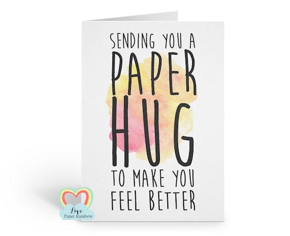 virtual hug card, sending you a paper hug, hug card, thinking of you, sending a hug card, paper hug, quarantine card, social distance card