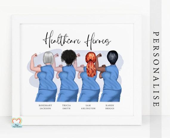 nurse gift, midwife print, surgeon print, healthcare heroes, healthcare, hospital wall art, nurse employee, nurse best friends, midwife gang