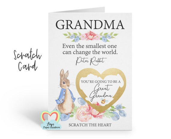 i'm pregnant, pregnancy reveal, pregnancy announcement, pregnancy scratch card, i'm pregnant scratch card, going to be a great grandma