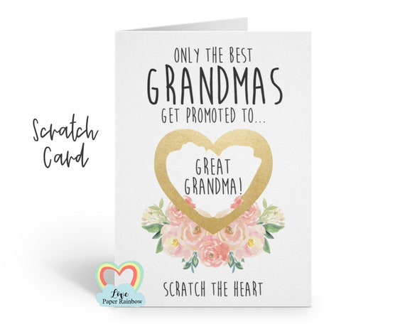 i'm pregnant, pregnancy reveal, pregnancy announcement, pregnancy scratch card, i'm pregnant scratch card you're going to be a great grandma