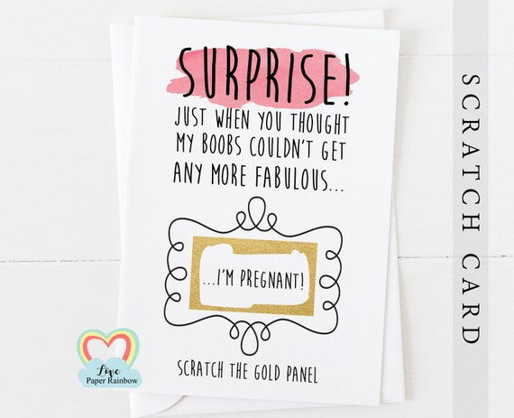 you're going to be a daddy, i'm pregnant, daddy reveal, pregnancy announcement, daddy scratch card, i'm pregnant scratch card, boobs, funny