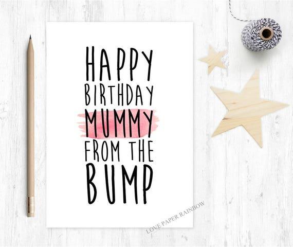 happy birthday mummy from the bump, mummy birthday card from bump, love from the bump, cute mummy birthday card
