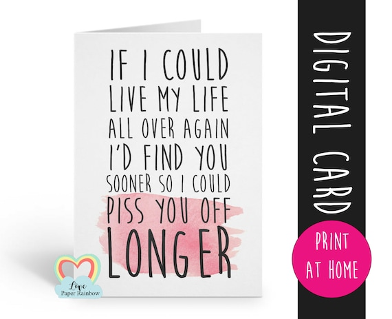 anniversary card printable funny love card digital download boyfriend valentines card rude anniversary girlfriend boyfriend find you sooner