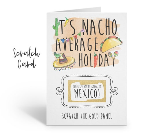 mexico boarding pass | plane ticket | mexico scratch card | mexico birthday gift | scratch and reveal | nacho | surprise holiday | christmas