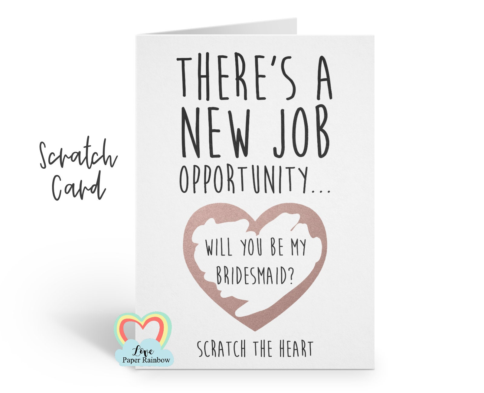 will you be my bridesmaid scratch card funny maid of honour proposal chief