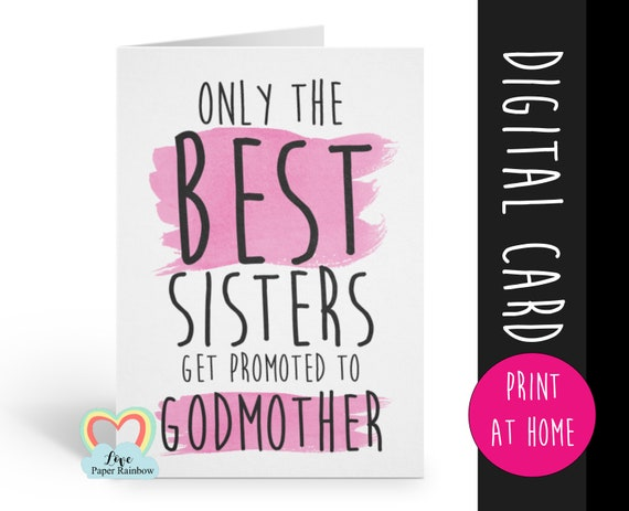 PRINTABLE will you be my godmother card, godmother card, printable godmother card, will you be my godmother card printable, sister