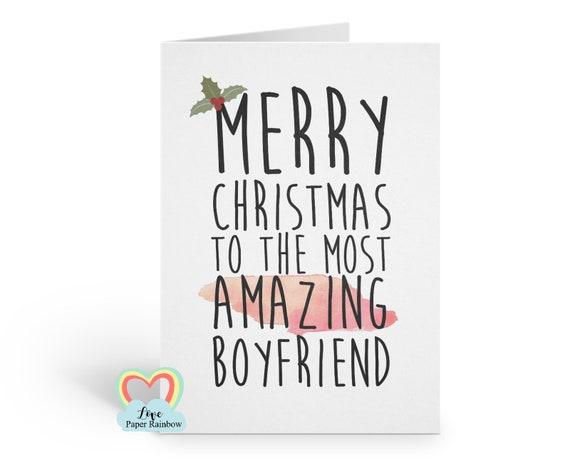 boyfriend christmas card, romantic boyfriend christmas card, merry christmas boyfriend, amazing boyfriend christmas card