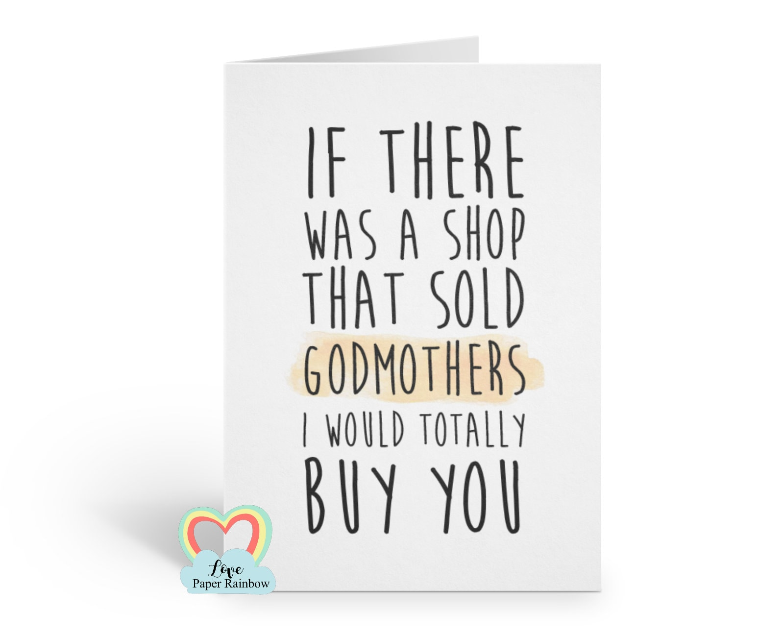 Godmother Card Funny Godmother Card Godmother Quote Godmother