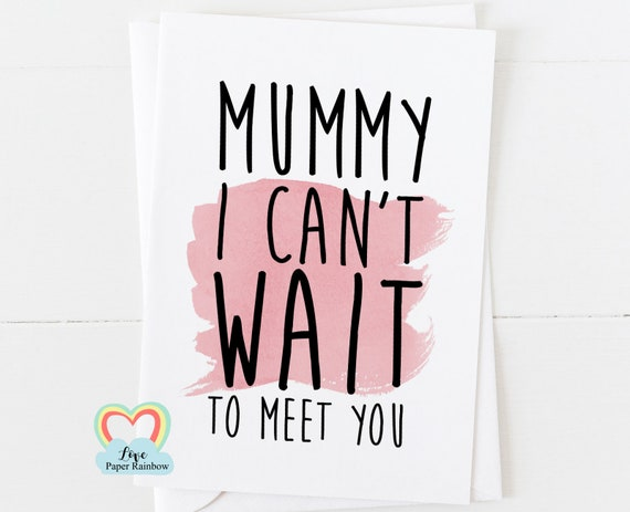 to mummy from bump, I can't wait to see you, pregnancy card for mum, mother's day card, mummy card, mummy to be card