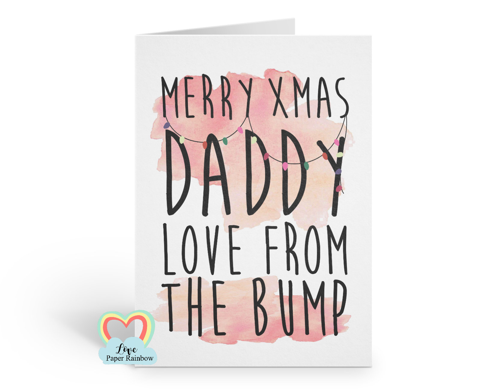 Merry Christmas Daddy From The Bump Daddy Christmas Card From The Bump Christmas Card From Bump Bump S First Christmas Card