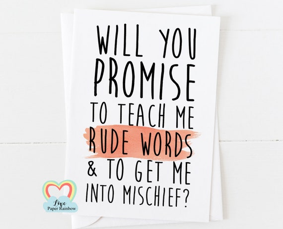 funny godfather card, will you be my godfather, funny godmother card, funny godmother card, teach me rude words and get into mischief