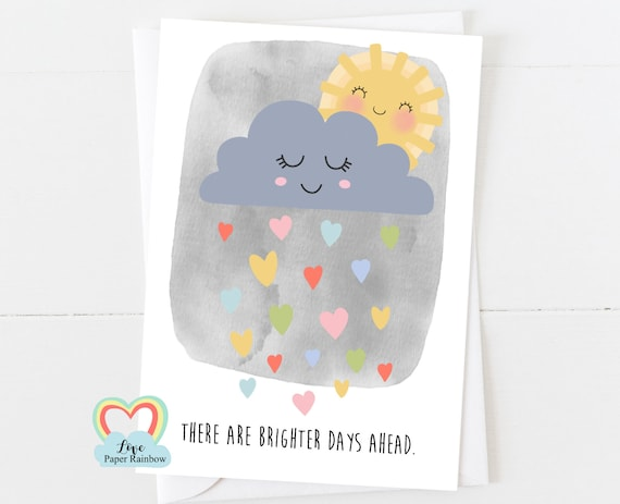 mental health card, positive quote, motivational card, motivational quote, things will get better, affirmation card, brighter days, sympathy