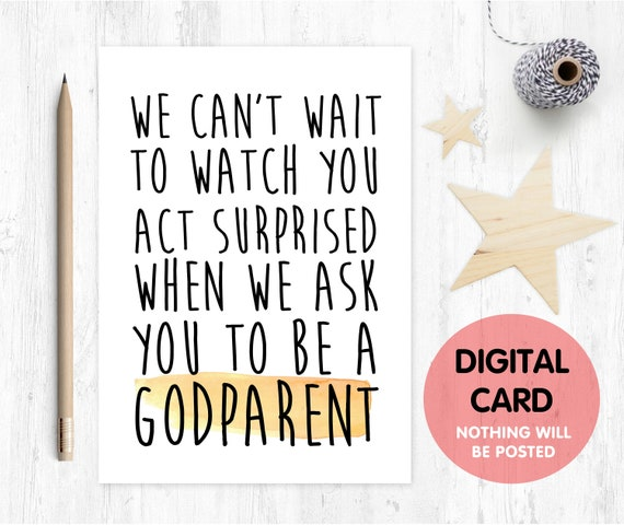godparent proposal printable, printable godparent card, will you be my godparent, funny godmother card printable, funny godfather proposal