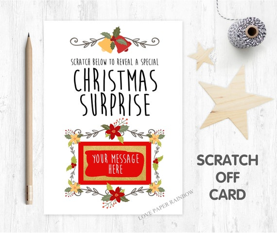 christmas scratch card christmas surprise baby reveal christmas card scratch off personalised christmas card christmas gift pregnancy