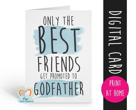 godfather card printable will you be my godfather card digital download godfather proposal floral godfather card best friends get promoted