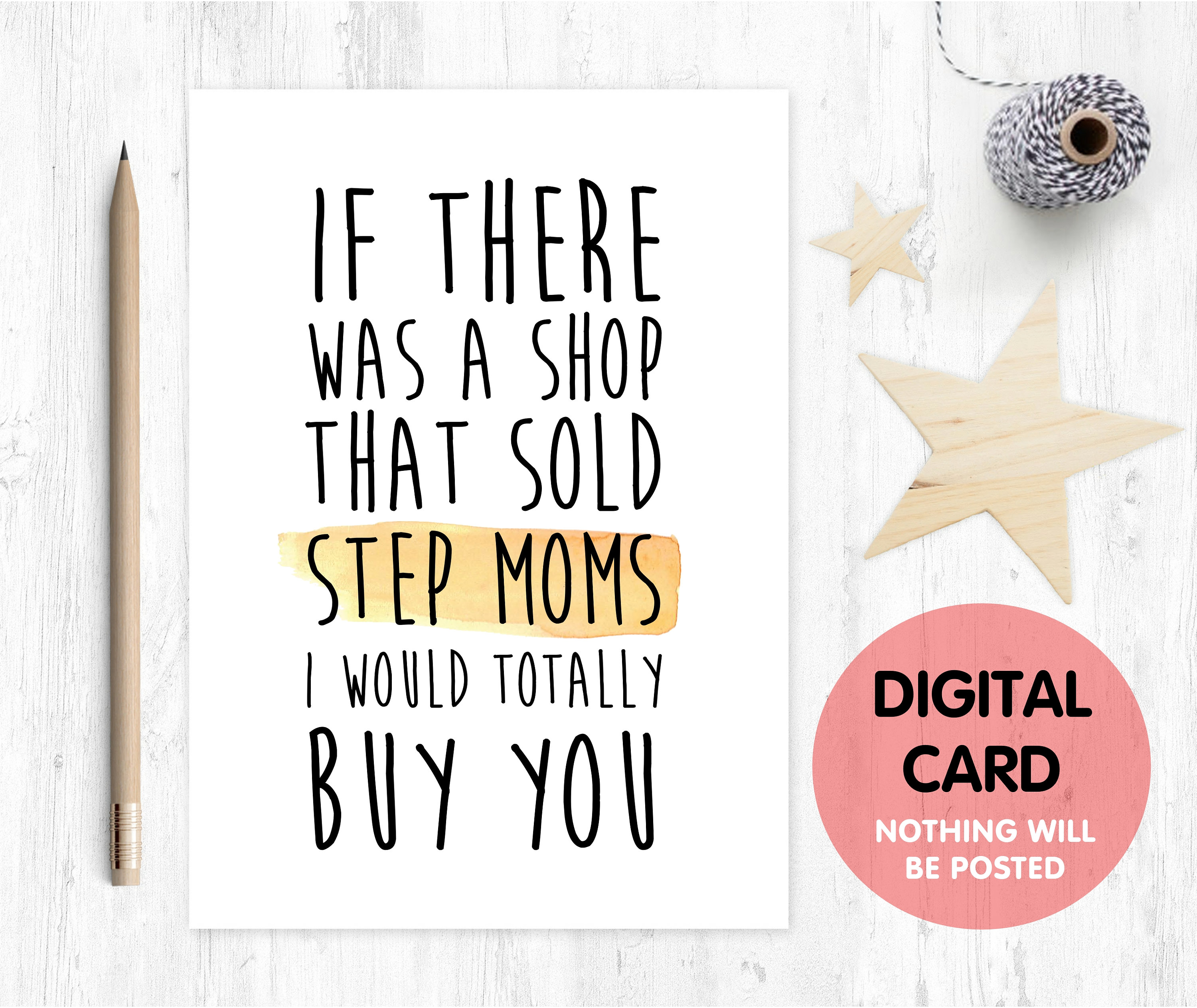 Stepmom Mothers Day Card Printable Digital Download Thanks Birthday If There Was A Shop That Sold Stepmoms