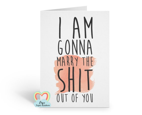 fiance valentines card, funny valentines card, funny engagement card, funny fiancee card, fiance birthday card, bride to be card