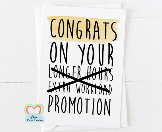 promotion card, new job card, funny new job card, new job, leaving job card, funny leaving job, funny job promotion, job promotion card