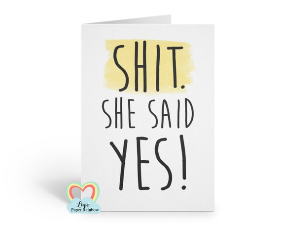 funny best man card usher card groomsman card will you be my best man shit she said yes best man proposal love paper rainbow
