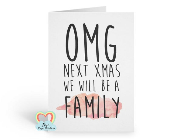 daddy to be christmas card, mummy to be christmas card, next christmas we will be a family, next christmas we will have a baby