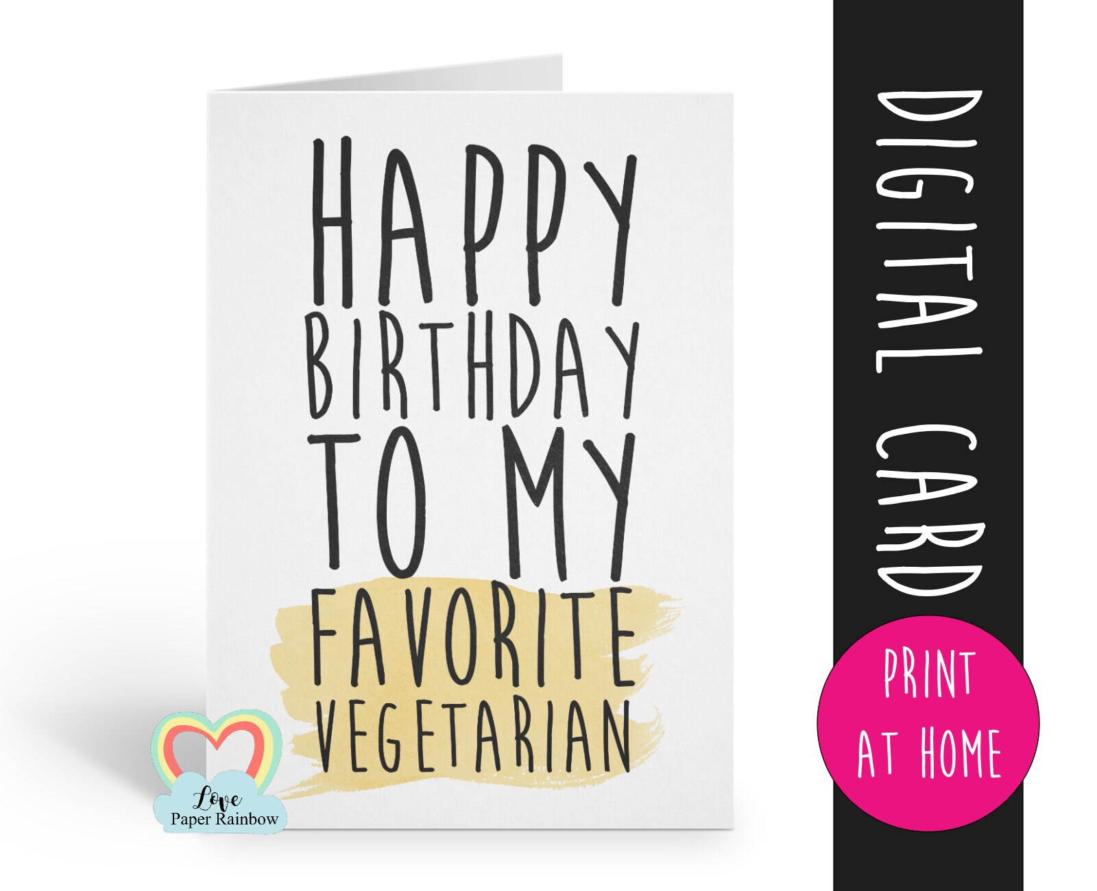 Birthday Card Instant Download 1