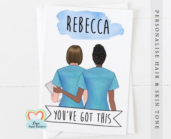 nurse card, personalised nurse card, thank you nurse card, you've got this, you've got this nurse, good luck nurse, love paper rainbow