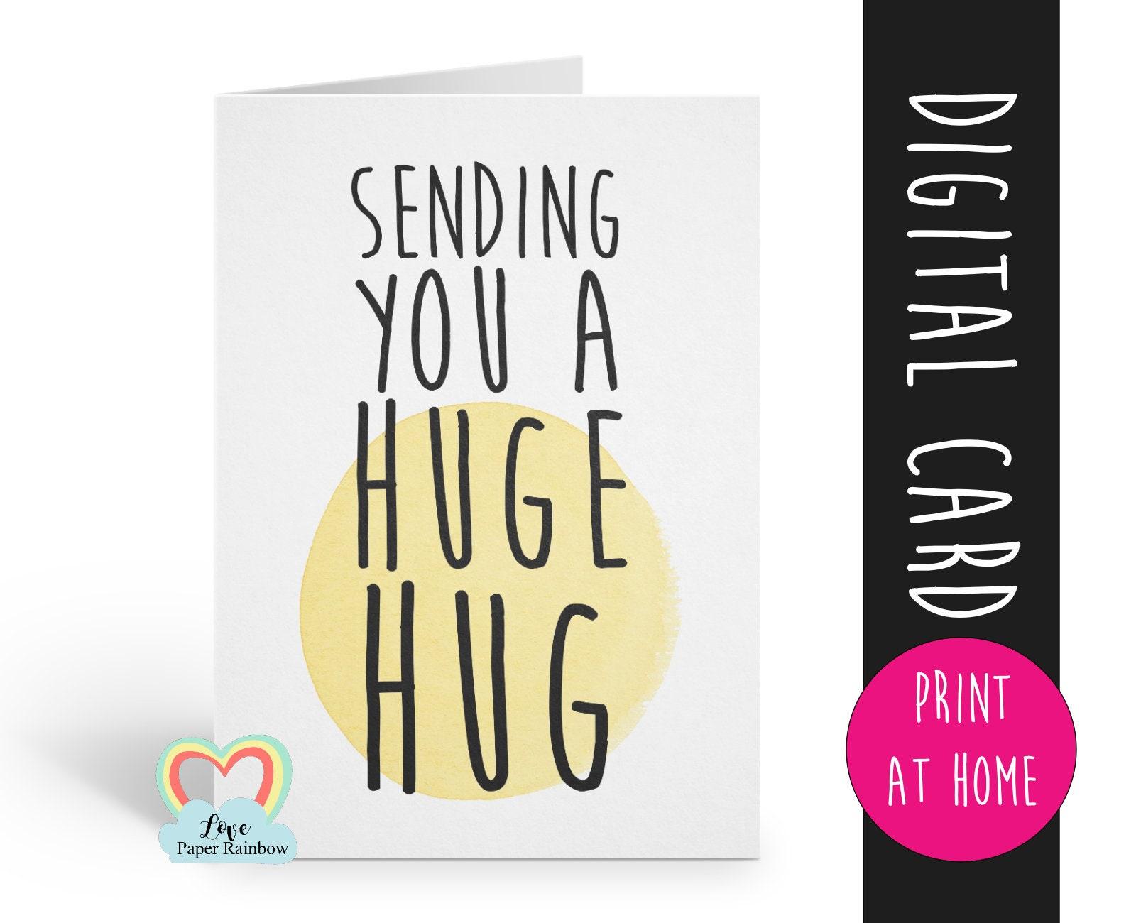 photograph regarding Printable Sympathy Card named PRINTABLE sympathy card, sending oneself a massive hug, inside
