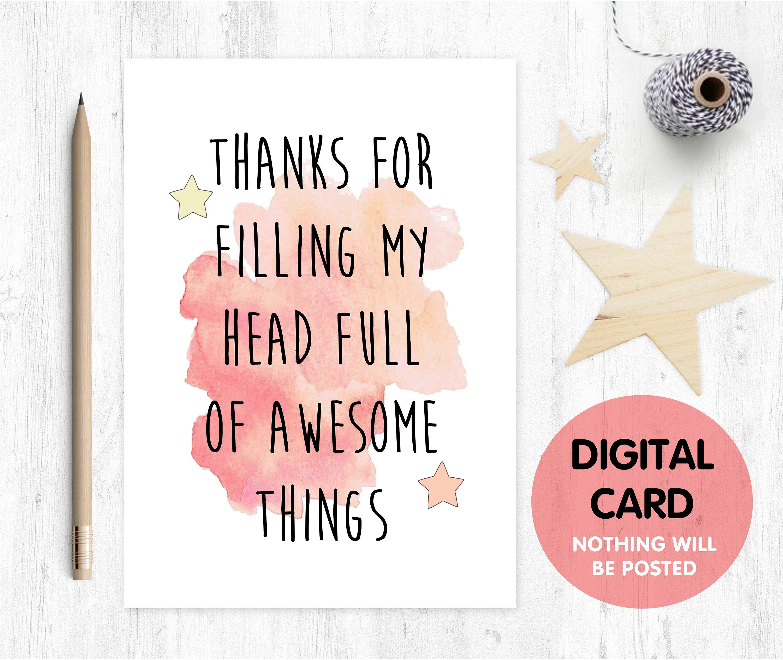 Printable Teacher Card Thanks Teacher Card Thank You Teacher