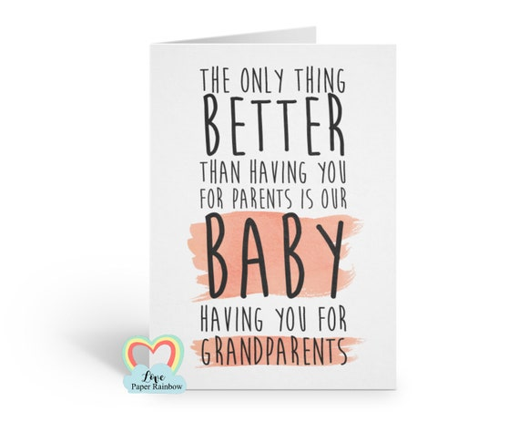 you're going to be grandparents card, baby announcement card, baby reveal card, pregnancy announcement, I'm pregnant