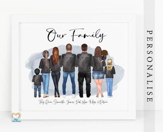 adoption print, family print, our family print, adoption gift, personalised family print, family christmas gift. new home print, emigrating
