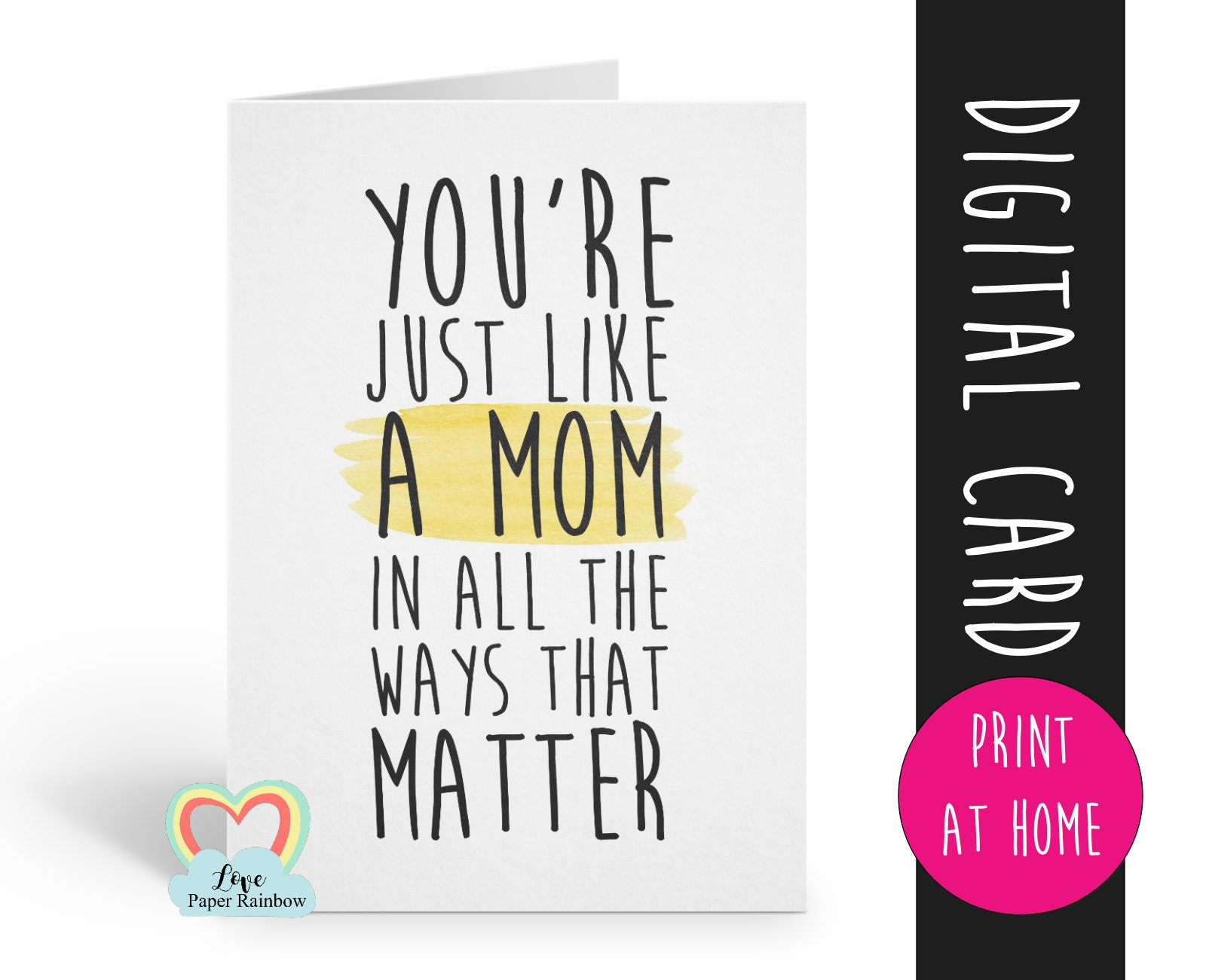 Birthday Card Printable Thanks Stepmom Digital Download 1
