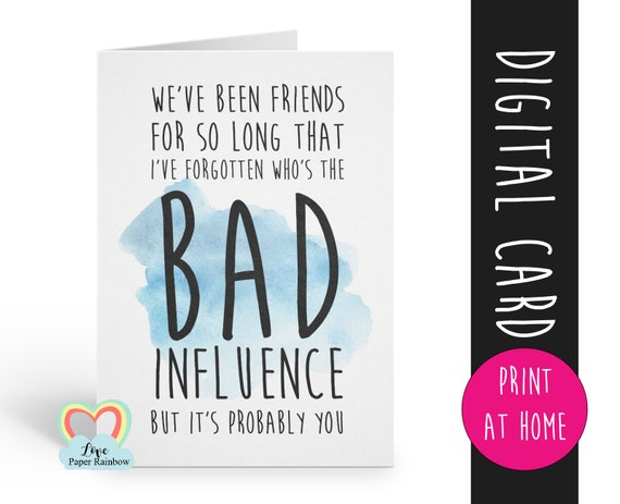 friendship card instant download | friendship quote | funny friendship | we've been friends for so long | thank you | card for friend