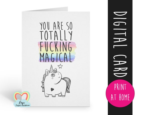 friendship card instant download | friendship quote | funny friendship | unicorn | thank you | card for friend | friend card printable
