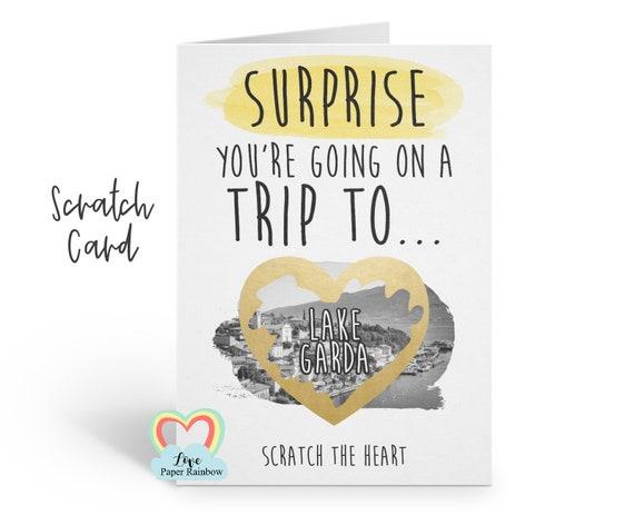 Lake Garda surprise trip scratch card | you're going to Italy | Lake Garda scratch card | Lake Garda card