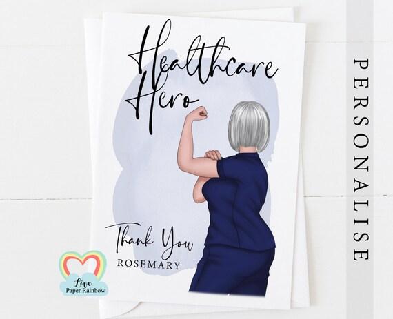 healthcare hero nurse card thanks nurse card nurse retirement midwife thanks therapist surgeon doctor card nurse gift