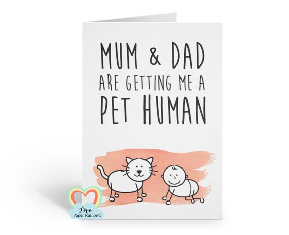 funny pregnancy announcement, mum and dad are getting me a pet human, pregnancy reveal from the cat, you're going to be grandparents, aunty