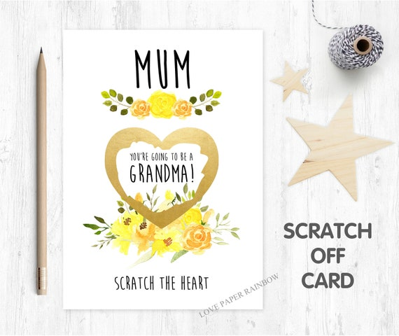 you're going to be a grandma scratch card pregnancy reveal scratch card I'm pregnant grandma reveal nanny card