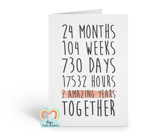 2nd anniversary card, 2nd wedding anniversary card, 2 years together, 2 amazing years, lesbian anniversary card, gay anniversary card