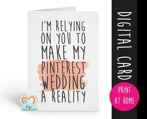 PRINTABLE bridesmaid card, will you be my bridesmaid printable, funny bridesmaid card, bridesmaid proposal printable, digital download