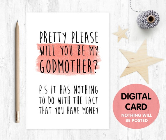 funny godmother card printable godmother proposal instant download godmother card inappropriate godmother printable card digital download