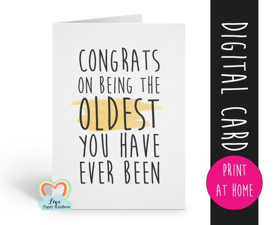 PRINTABLE birthday card, birthday card printable, instant download birthday card, funny birthday card, sarcastic birthday card, digital card