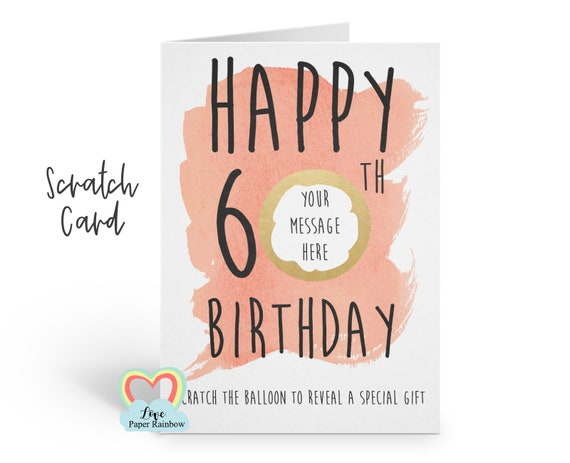 60th birthday scratch card | 60th birthday surprise | 60th birthday gift | 60th birthday | scratch and reveal | 60th surprise holiday
