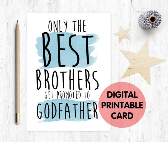 PRINTABLE will you be my godfather card, printable godfather card, brother godfather proposal, godfather card digital