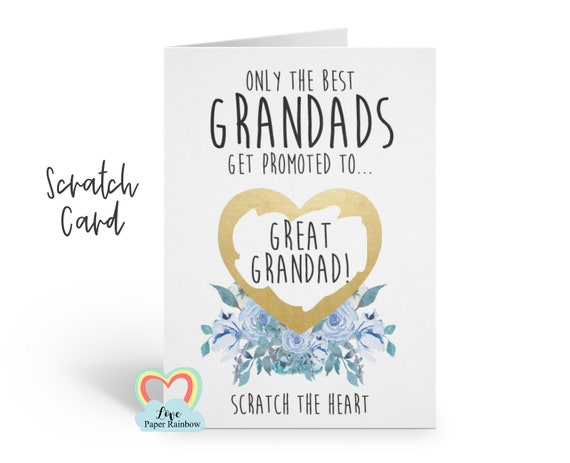 i'm pregnant, pregnancy reveal pregnancy announcement pregnancy scratch card i'm pregnant scratch card you're going to be a great grandad