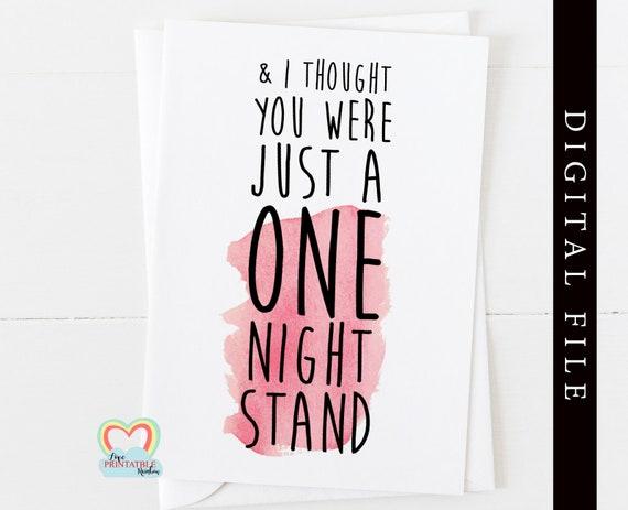 PRINTABLE anniversary card printable valentines day card digital download one night stand card boyfriend card love girlfriend romantic