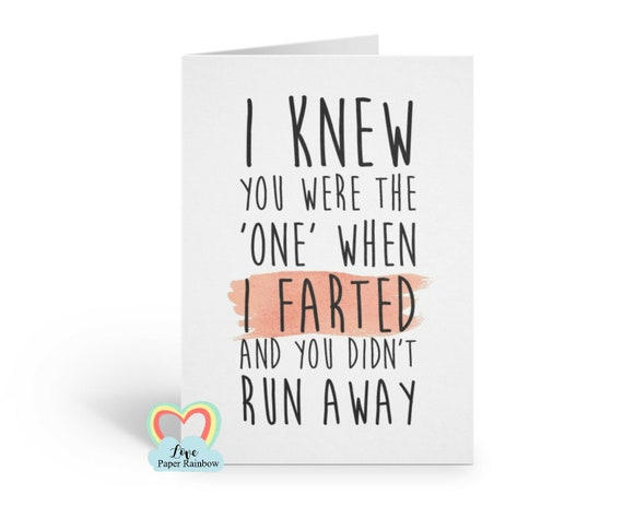 funny anniversary card, funny love card boyfriend card girlfriend card birthday card fart card anniversary fart card valentines day card