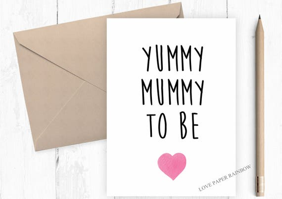 mummy to be card, mummy to be valentines card, mothers day card from bump, pregnant mothers day card, pregnancy card, yummy mummy card,