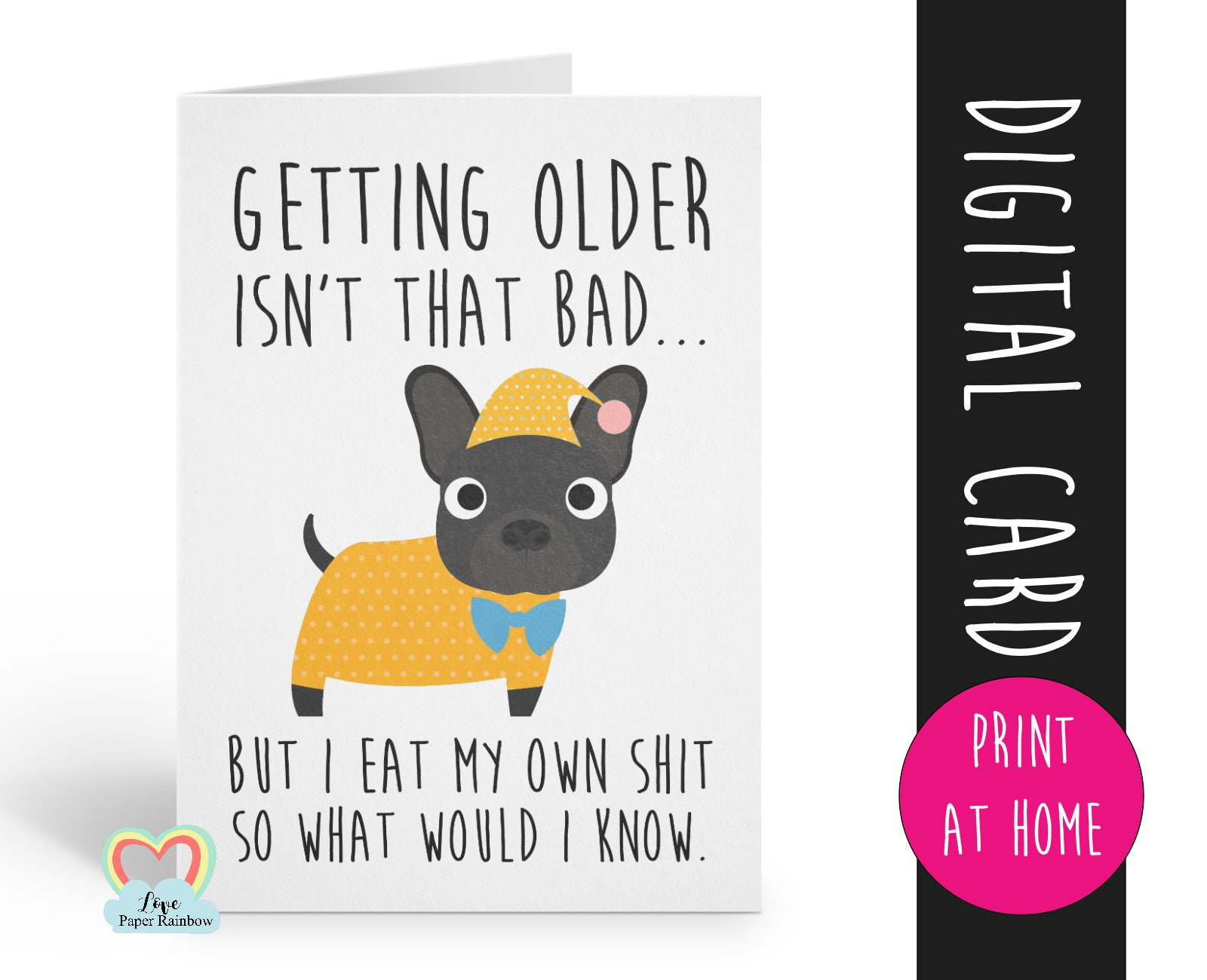 PRINTABLE Birthday Card Funny Birthday Card Instant Download
