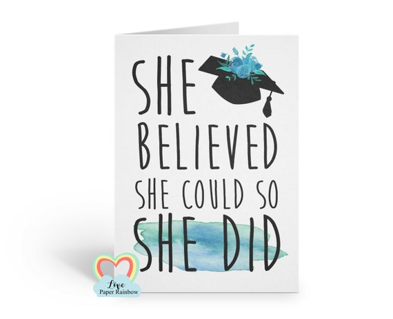 graduation card 2019 she believed she could so she did class of 2019 greeting card