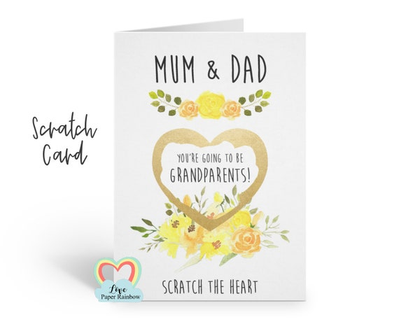 i'm pregnant, pregnancy reveal, pregnancy announcement, pregnancy scratch card, i'm pregnant scratch card, you're going to be grandparents
